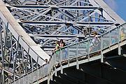 Blaues Wunder, Blasewitz, Loschwitz, Dresden, Sachsen, Deutschland.|.Blaues Wunder (bridge Blue Wonder), Blasewitz, Loschwitz, Dresden, Germany