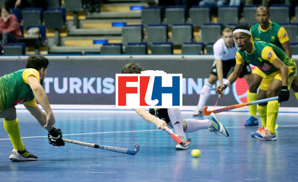 BERLIN - Indoor Hockey World Cup<br /> Men: Russia - South Africa<br /> foto: GOLUBEV Pavel.<br /> COPYRIGHT WILLEM VERNES