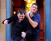 The Fight scene between Jason, Gray and Alison...Photographs by Alan Peebles