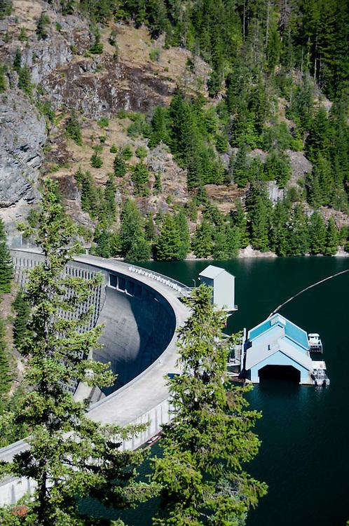 Ross Dam, Ross Lake National Recreation Area, North Cascades National Park, Washington, US