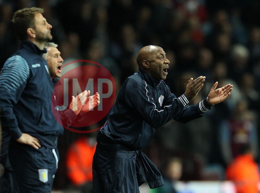 Queens Park Rangers Head Coach, Chris Ramsey encourages his side - Photo mandatory by-line: Robbie Stephenson/JMP - Mobile: 07966 386802 - 07/04/2015 - SPORT - Football - Birmingham - Villa Park - Aston Villa v Queens Park Rangers - Barclays Premier League