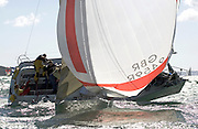 "Sigma 33 ""Stalker"" broaches on the home run.Day 2 Skandia Cowes Week 2006"