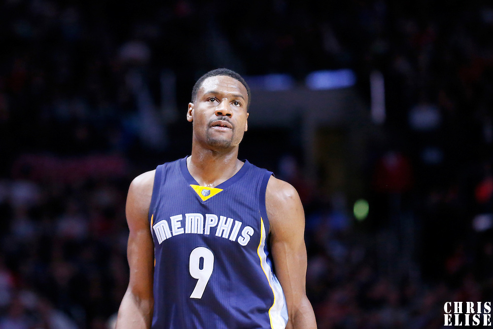 23 February 2015: Memphis Grizzlies forward Tony Allen (9) is seen during the Memphis Grizzlies 90-87 victory over the Los Angeles Clippers, at the Staples Center, Los Angeles, California, USA.