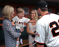 Buster Posey and family, 2013