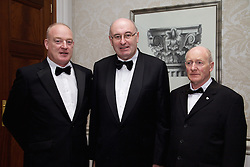23/10/2015<br /> 10/23/2015<br /> 23 October 2015<br />  Guild of Agricultural Journalists &ndash; Michael Dillon Lecture at the Shelbourne Hotel, Dublin. For Farmer's Journal. <br /> At the event were (l-r): Patrick Kent; Phil Hogan, European Commissioner for Agriculture and Rural Development and Francis Brennan.