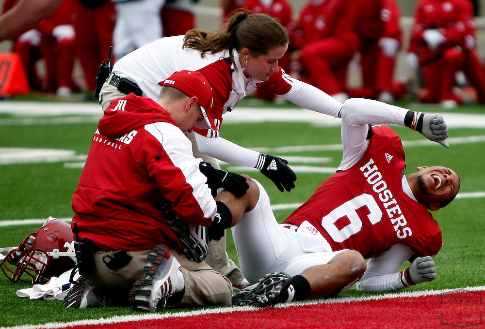 08 November 2008:Indiana cornerback Richard Council (6) as the Indiana Hoosiers played the Wisconsin Badgers in a college football game in Bloomington, Ind....