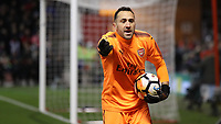 Football - 2017 / 2018 FA Cup - Third Round: Nottingham Forest vs. Arsenal<br /> <br /> David Ospina of Arsenal complains about a penalty at the City Ground.<br /> <br /> COLORSPORT/LYNNE CAMERON