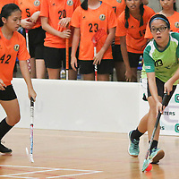 2016 National B Div Girls Floorball Semis: Orchid Park vs Tanjong Katong