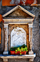 """Sanctuary of Madonna and child along Calle Dose da Ponte Venice""... <br />