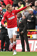 Picture by David Horn/Focus Images Ltd +44 7545 970036.03/11/2012.Rob Hulse of Charlton Athletic celebrates scoring the opening goal during the npower Championship match at The Valley, London.