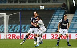 Kalvin Phillips of Leeds United and Shaun Williams of Millwall challenge for the ball - Mandatory by-line: Arron Gent/JMP - 05/10/2019 - FOOTBALL - The Den - London, England - Millwall v Leeds United - Sky Bet Championship
