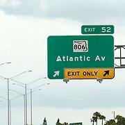 USA/Miami/20150727 - Miami, verkeersborden