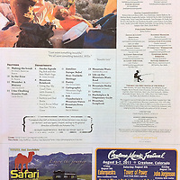 Table of Content, July issue of Mountain Gazette.