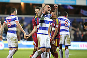 Queens Park Rangers defender Joel Lynch (6) celebrating win during the EFL Sky Bet Championship match between Queens Park Rangers and Ipswich Town at the Loftus Road Stadium, London, England on 2 January 2017. Photo by Matthew Redman.