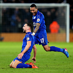Daniel Drinkwater of Leicester City celebrates scoring a goal to male it 2-0 - Mandatory by-line: Robbie Stephenson/JMP - 27/02/2017 - FOOTBALL - King Power Stadium - Leicester, England - Leicester City v Liverpool - Premier League