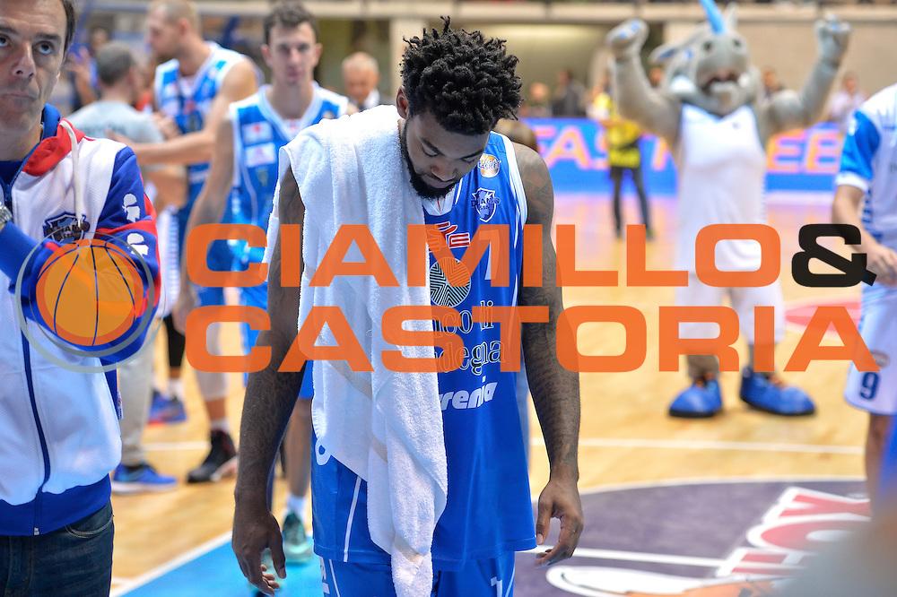 Trevor Lacey<br /> Red October Cantu' vs Banco di Sardegna Sassari<br /> Basket Serie A 2016/2017<br /> Milano 23/10/2016<br /> Foto Ciamillo-Castoria