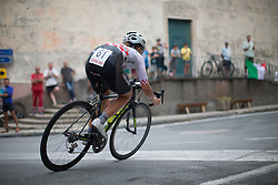 Mia Radotic (CRO) of BTC City Ljubljsana Cycling Team rides through the town of San Martino during the Giro Rosa 2016 - Stage 7. A 21.9 km individual time trial from Albisola to Varazze, Italy on July 8th 2016.