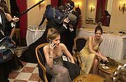 Marine Sulitzer and Pauline Blassel. Crillon Haute Couture Ball. Crillon Hotel, Paris. 2 December 2000. © Copyright Photograph by Dafydd Jones 66 Stockwell Park Rd. London SW9 0DA Tel 020 7733 0108 www.dafjones.com