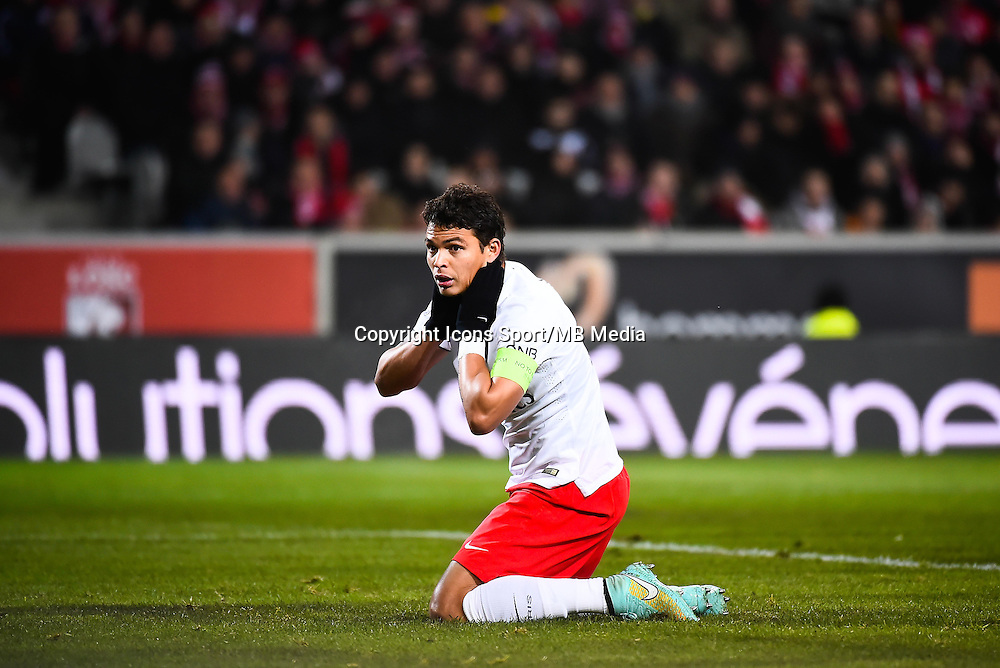 Deception Thiago SILVA - 03.12.2014 - Lille / Paris Saint Germain - 16eme journee de Ligue 1 -<br />