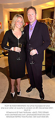 RORY & TESSA BREMNER, he is the impressionist and she is an artist, at a party in London on 4th December 2001.OUY 31