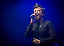 Rick Astley performs on stage at Camp Bestival 2018, Lulworth Castle, Wareham. Picture date: Friday 27th July 2018. Photo credit should read: David Jensen/EMPICS Entertainment