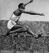 Jesse Owens (1913 – 1980) American track and field athlete. He participated in the 1936 Summer Olympics in Berlin, Germany, where he achieved international fame by winning four gold medals: one each in the 100 meters, the 200 meters, the long jump, and as