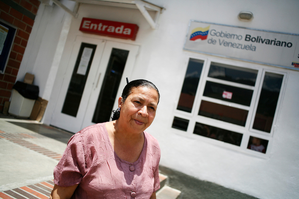 """One of the coordinators of the """"endogenous zone"""" located in Catia barrio (one of the largest barrios in Caracas). The compound is part of the government's plan to build zones for work, entertainment, health care, recreation and other activities and services for nearby residents."""