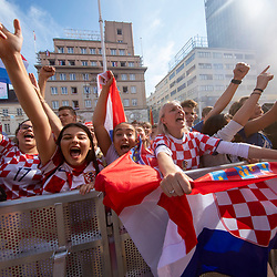 20180715: CRO, Football - Croatian fans watching World Cup Final match CRO vs FRA in Zagreb