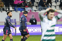 December 8, 2017 - Paris, France, France - Joie de Yobo (Stade Francais) sur l essai de Fisi Ihoi (Credit Image: © Panoramic via ZUMA Press)
