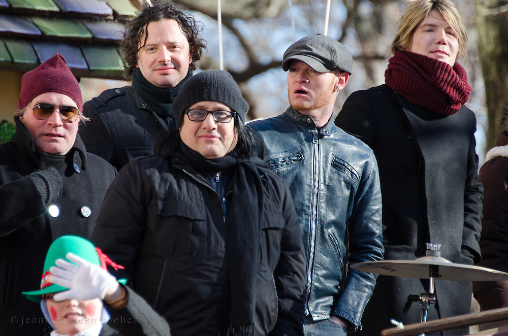 NEW YORK, NY, USA, Nov. 28, 2013. The Goo Goo Dolls aboard a float in the 87th Annual Macy's Thanksgiving Day Parade.