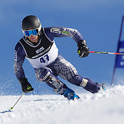 Kevin Drury, Canada, in action during the Men's Giant Slalom competition at Coronet Peak, New Zealand during the Winter Games. Queenstown, New Zealand, 22nd August 2011. Photo Tim Clayton