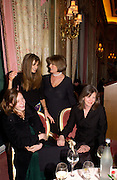 Jemima Khan, Lady Annabel goldsmith, Kate goldsmith and Anita Witan, ( Kate's mother was called Rothschild) Annabel, An Unconventional Life. Memoirs of Lady Annable goildsmith. The Ritz. 10 March 2004. ONE TIME USE ONLY - DO NOT ARCHIVE  © Copyright Photograph by Dafydd Jones 66 Stockwell Park Rd. London SW9 0DA Tel 020 7733 0108 www.dafjones.com