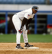 CHICAGO - 1997:  Frank Thomas of the Chicago White Sox looks on during an MLB game at Comiskey Park in Chicago, Illinois.  Thomas played for the White Sox from 1990-2005. (Photo by Ron Vesely)