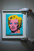 Warhol's Marilyn Monroe, 1967 Estimate $300,000-400,000 - Sotheby's previews New York sales of Impressionist, Modern and Contemporary Art.   London Exhibition Dates 9- 13 April 2016, New York Sale Dates Impressionist & Modern Art Evening Sale: 9 May 2016 and Contemporary Art Evening Auction: 11 May 2016
