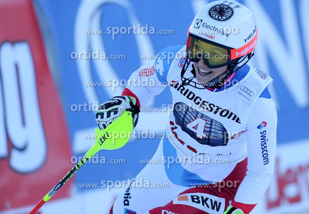 29.12.2015, Hochstein, Lienz, AUT, FIS Weltcup Ski Alpin, Lienz, Slalom, Damen, 2. Durchgang, im Bild Wendy Holdener (SUI) // Wendy Holdener of Switzerland reacts after 2nd run of ladies Slalom of the Lienz FIS Ski Alpine World Cup at the Hochstein in Lienz, Austria on 2015/12/29. EXPA Pictures © 2015, PhotoCredit: EXPA/ Erich Spiess
