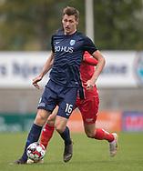 FODBOLD: Mathias Kristensen (Nykøbing FC) under kampen i NordicBet Ligaen mellem Nykøbing FC og FC Helsingør den 19. maj 2019 på CM Arena i Nykøbing Falster. Foto: Claus Birch