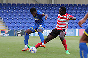 Christian Toonga during the Pre-Season Friendly match between Kingstonian and AFC Wimbledon at the Cherry Red Records Stadium, Kingston, England on 30 July 2015. Photo by Stuart Butcher.