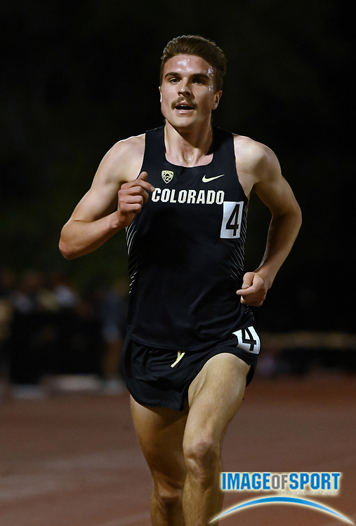 Apr 18, 2019; Azusa, CA, USA; Joe Klecker of Colorado places sixth in the 5,000m in 13:35.95 at the Bryan Clay Invitational at Azusa Pacific University.