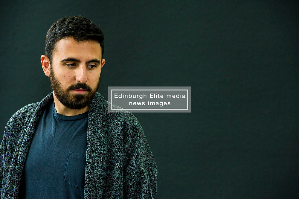 Pictured: Omar Robert Hamilton is a filmmaker and founding member of activist media collective Mosireen in Cairo<br /> Book fanatics headed to Charlotte Square in Edinburgh which is the hub of the international Book Festival to meet the authors and also to meet up with fellow fans of the printed word.<br /> <br /> <br /> Ger Harley   EEm 18 August 2017