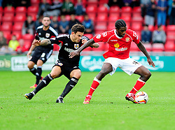 Bristol City's Marlon Pack closes down Crewe Alexandra's Anthony Grant - Photo mandatory by-line: Dougie Allward/JMP - Tel: Mobile: 07966 386802 19/10/2013 - SPORT - FOOTBALL - Alexandra Stadium - Crewe - Crewe V Bristol City - Sky Bet League One