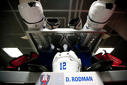 Equipment of David Rodman of Slovenia in Slovenian wardrobe prior to the ice-hockey match between Slovenia and Latvia of IIHF 2011 World Championship Slovakia, on May 5, 2011 in Orange Arena, Bratislava, Slovakia.  (Photo By Vid Ponikvar / Sportida.com)