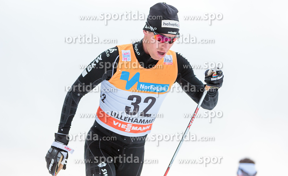 05.12.2015, Nordic Arena, NOR, FIS Weltcup Langlauf, Lillehammer, Herren, im Bild Toni Livers (SUI) // Toni Livers of Switzerland during Mens Cross Country Competition of FIS Cross Country World Cup at the Nordic Arena, Lillehammer, Norway on 2015/12/05. EXPA Pictures © 2015, PhotoCredit: EXPA/ JFK