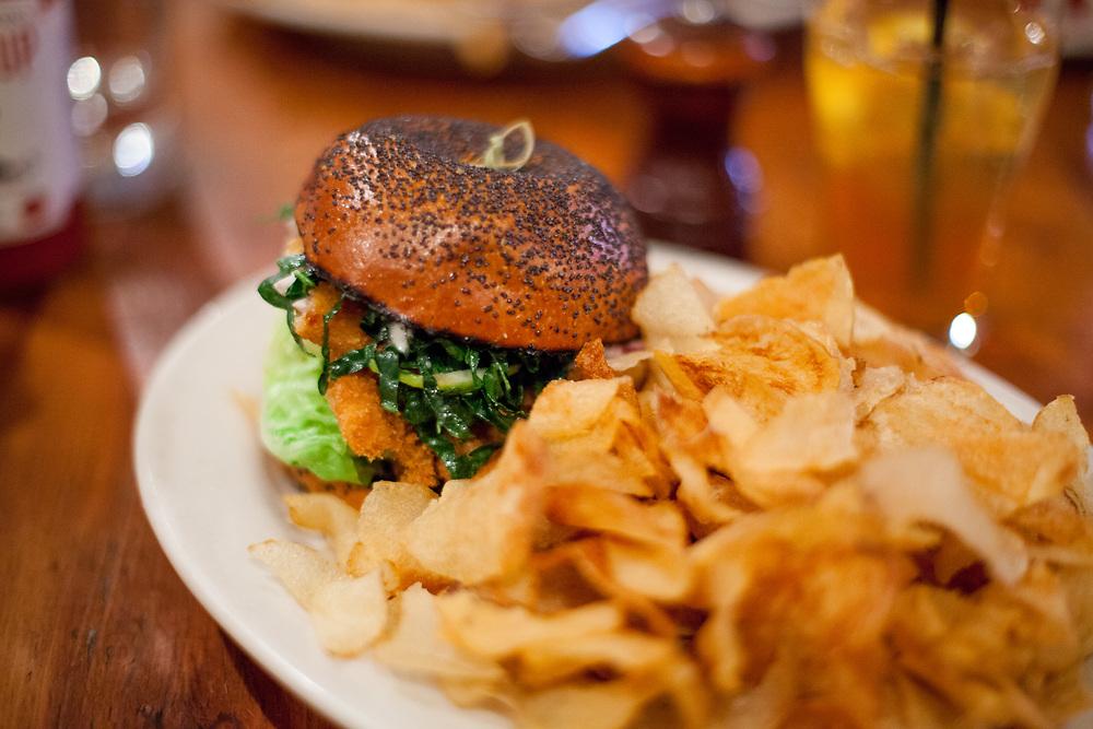 Crispy Trout Sandwich at The Smith East Village (P$FREE) -Dev Lunch April