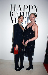 Left to right, JASMINE GUINNESS and JADE PARFITT at a party to celebrate the 90th birthday of Vogue magazine held at The Serpentine Gallery, Kensington Gardens, London on 8th November 2006.<br />