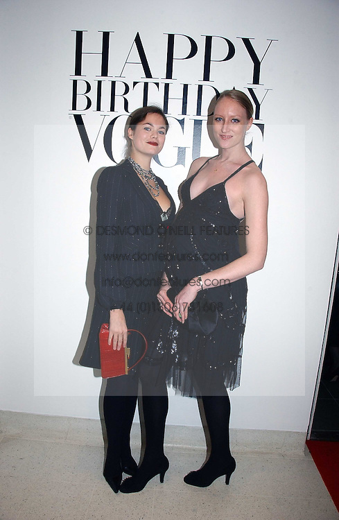 Left to right, JASMINE GUINNESS and JADE PARFITT at a party to celebrate the 90th birthday of Vogue magazine held at The Serpentine Gallery, Kensington Gardens, London on 8th November 2006.<br /><br />NON EXCLUSIVE - WORLD RIGHTS