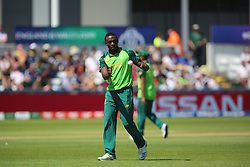 June 28, 2019 - Chester Le Street, County Durham, United Kingdom - South Africa's Kagiso Rabada during the ICC Cricket World Cup 2019 match between Sri Lanka and South Africa at Emirates Riverside, Chester le Street on Friday 28th June 2019. (Credit Image: © Mi News/NurPhoto via ZUMA Press)
