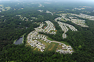 Housing development in northern Mecklenburg County, one of the fastest growing  counties in the US in terms of populations and development.<br /> <br /> Lat 35,19.6817N  Long 80,52.8836W