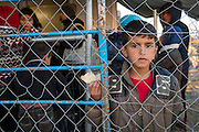 March 5, 2016 - Idomeni, Greece: Boy in make shift camp at the  Idomeni border crossing in Greece. 13,000 refugees are stuck here after Macedonia closed the border. New arrivals come in every day, making living conditions more and more difficult, so that the local government asked the emercency state was declared . (Steven Wassenaar/Polaris)