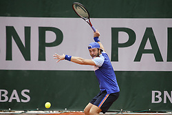 May 21, 2019 - Paris, France - Paolo Lorenzi during the match between Paolo Lorenzi of ITA vs Enzo Couacaud of FRA in the first round qualifications of 2019 Roland Garros, in Paris, France, on May 21, 2019. (Credit Image: © Ibrahim Ezzat/NurPhoto via ZUMA Press)