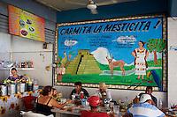 Mexique, Etat de Yucatan, Merida, capitale du Yucatan, le marche municipal // Mexico, Yucatan state, Merida, the capital of Yucatan, municipal market